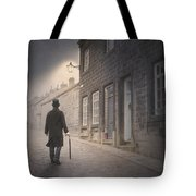 Victorian Man On A Cobbled Street Tote Bag
