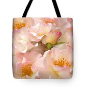 Victorian Pink Roses Bouquet Tote Bag