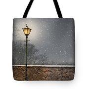 Victorian Street Lamp In Snow Tote Bag