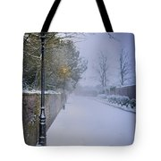 Victorian Winter Street Scene Tote Bag