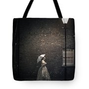 Victorian Woman Beneath A Street Lamp Tote Bag