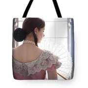 Victorian Woman By A Window Tote Bag