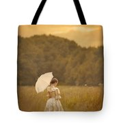 Victorian Woman In A Summer Meadow Tote Bag