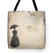 Victorian Woman In Winter Tote Bag