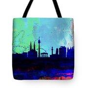 Vienna Watercolor Skyline Tote Bag
