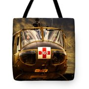Vietnam Era Medivac 369 Helicopter Tote Bag