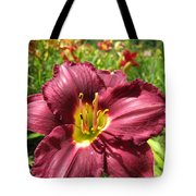 Viette's Daylily. Dark Purple 01 Tote Bag