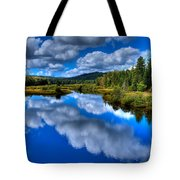 View At The Green Bridge - Old Forge New York Tote Bag