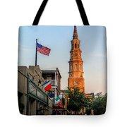 View Down Church Street Tote Bag