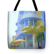 View Down Collins Ave Tote Bag