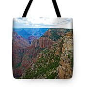 View Five From Walhalla Overlook On North Rim Of Grand Canyon-arizona Tote Bag