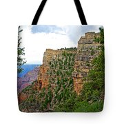 View Four From Walhalla Overlook On North Rim Of Grand Canyon-arizona Tote Bag