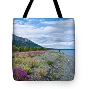 View Four Kluane Lake From Cottonwood Campground Near Destruction Bay-yk Tote Bag