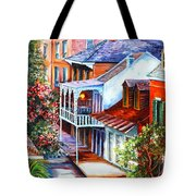 View From A Bourbon Street Balcony Tote Bag