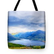 View From Bealach Ratagan To The Five Sisters Of Kintail Tote Bag