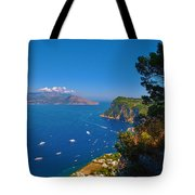 View From Capri Tote Bag