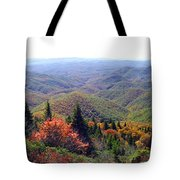 View From Devil's Courthouse Mountain Tote Bag