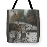 View From Foggy Window Tote Bag