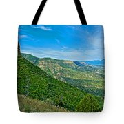 View From Knife Edge Road Overlooking Montezuma Valley In Mesa Verde National Park-colorado   Tote Bag