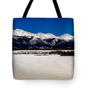 View From Meadow Creek Resevoir Tote Bag