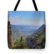 View From Montserrat Mountain Tote Bag