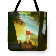 View From My Window On A Summer Afternoon  B-6 Tote Bag