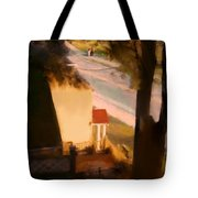 View From My Window On A Summer Afternoon  B-9 Tote Bag