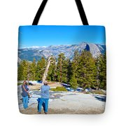 View From Near The Top Of Sentinel Dome In Yosemite Np-ca Tote Bag