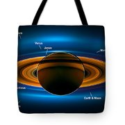 View From Saturn By Nasa's Cassini Spacecraft Tote Bag