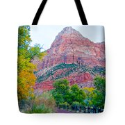 View From South Campground In Zion Np-ut Tote Bag