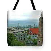 View From Temple Of The Dawn-wat Arun In Bangkok-thailand Tote Bag
