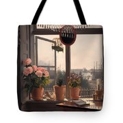 View From The Artist's Window Tote Bag