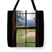 View From The Cabin Tote Bag by Todd Blanchard