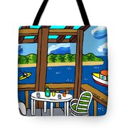 View From The Porch - Cedar Key Tote Bag by Mike Segal