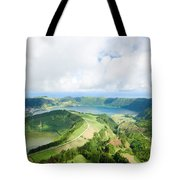 View From The Top Of Sete Cidades Tote Bag