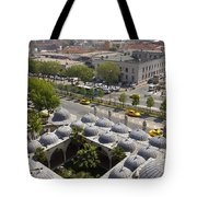 View From The Valens Aqueduct In Istanbul Tote Bag