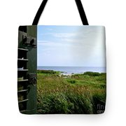 View From The Window At East Point Light Tote Bag