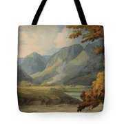 View In Borrowdale Of Eagle Crag And Rosthwaite Tote Bag