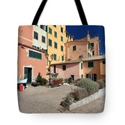 view in Sori Italy Tote Bag