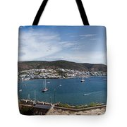 View Of A Harbor From A Castle, St Tote Bag
