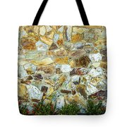 View Of A Stone Wall Tote Bag