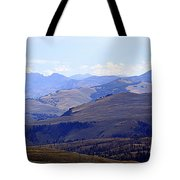 View Of Absaroka Mountains From Mount Washburn In Yellowstone National Park Tote Bag