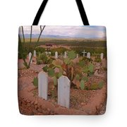 View Of Arizona From Boothill Cemetery Tote Bag