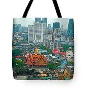 View Of Bangkok Buildings From Grand China Princess Hotel In Bangkok-thail Tote Bag
