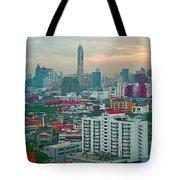View Of Bangkok Near Dusk From Grand China Princess Hotel In Bangkok-thailand Tote Bag