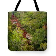 View Of Cano Cristales In Colombia Tote Bag
