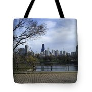 View Of Chicago Tote Bag