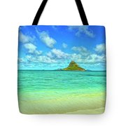 View Of Chinaman's Hat Tote Bag