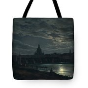 View Of Dresden By Moonlight Tote Bag