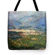 View Of Elbasan City Tote Bag